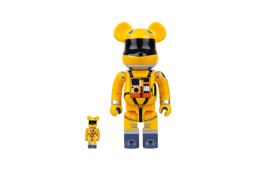 Be@rbrick X 2001 A Space Odyssey 400% & 100% Space Suit Yellow