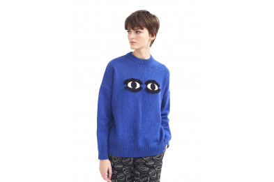 Lazy Oaf Don't Stare Knitted Jumper